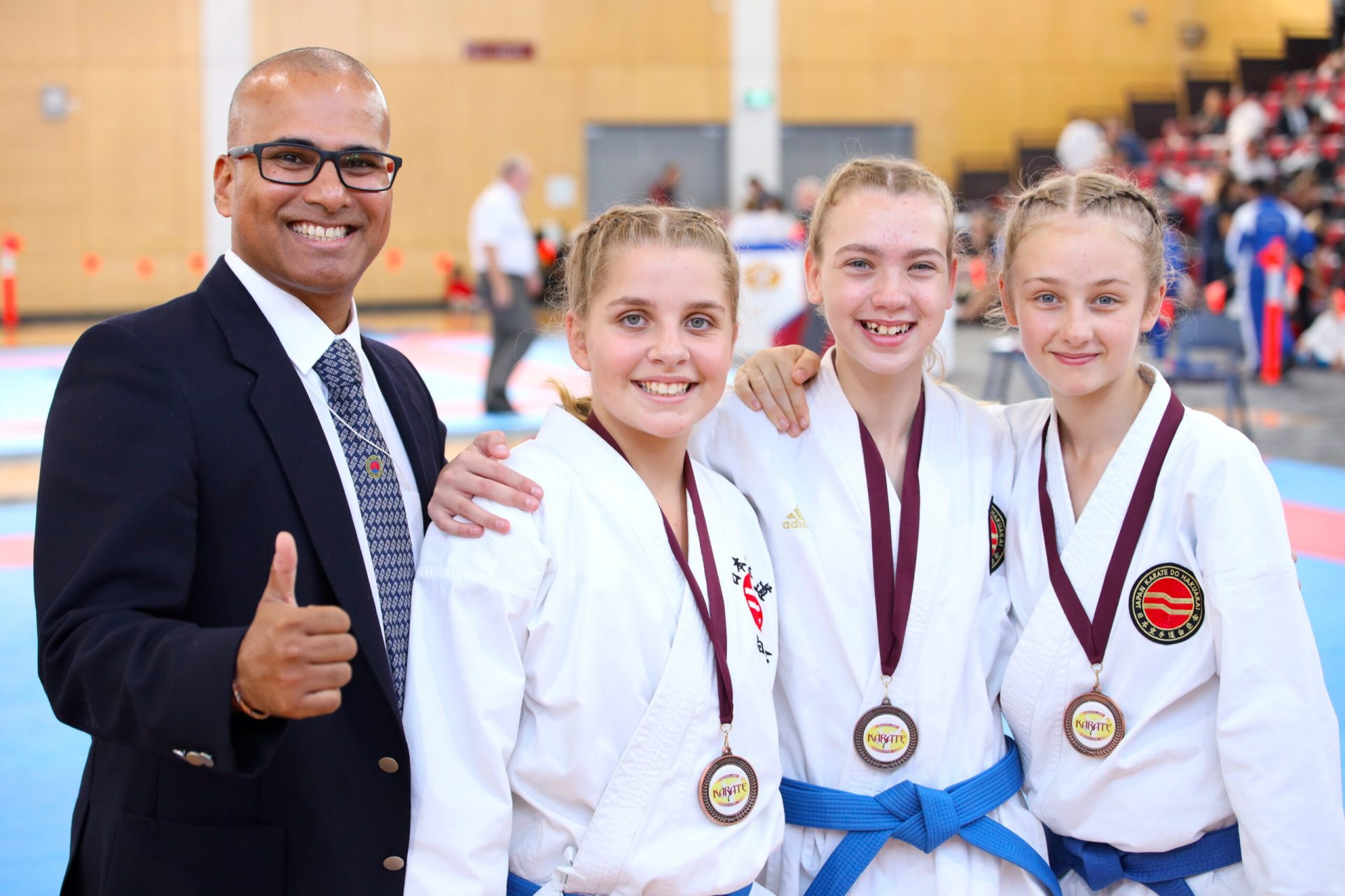 Karate Athletes at competition