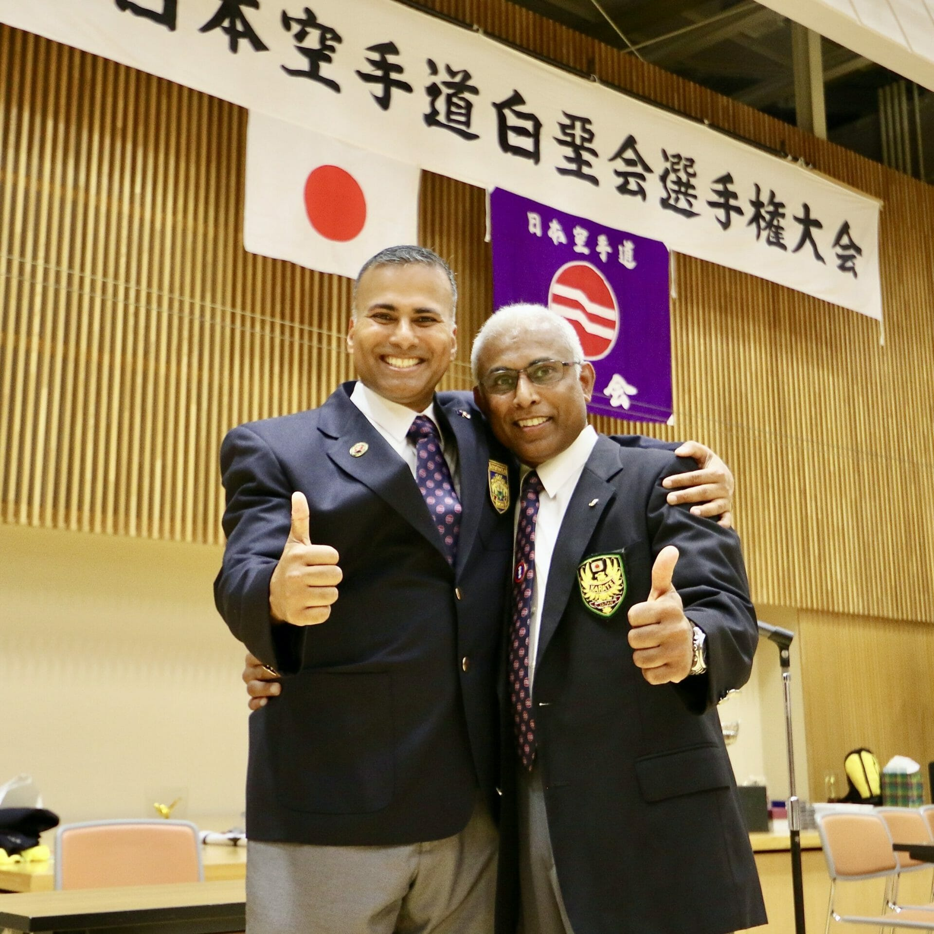 Accredited karate instructors from Japan
